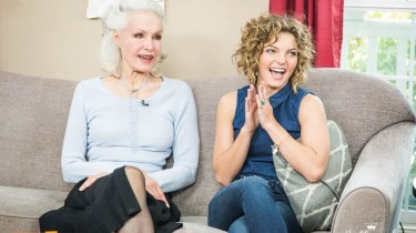 Julie Newmar and Camren Bicondova