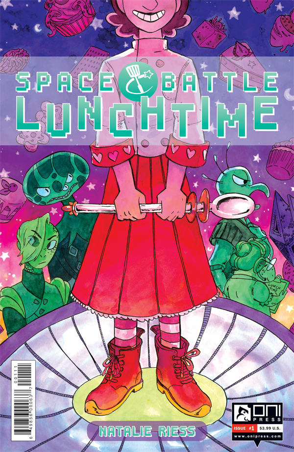 Space Battle Lunchtime #1 cover by Natalie Riess