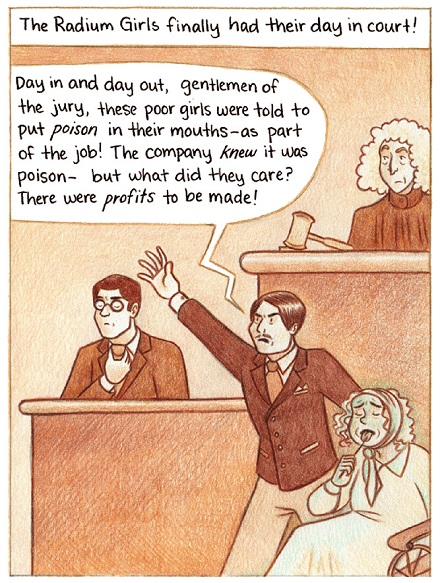 Radium Girls comic by Melanie Gillman