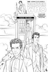 Doctor Who: Supremacy of the Cybermen #1 coloring variant cover by Mariano Laclaustra