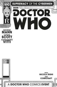 Doctor Who: Supremacy of the Cybermen #1 blank sketch variant cover