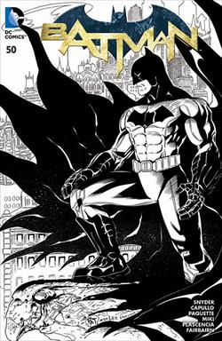 Batman #50 Wizard World Chicago black and white variant by Patrick Gleason