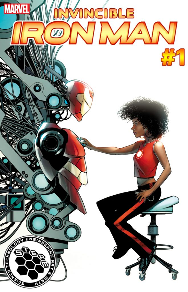 E (engineering)— INVINCIBLE IRON MAN #1 by Mike McKone