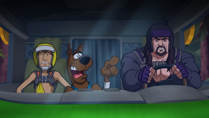 Shaggy, Scooby, and the Undertaker in Scooby-Doo! and WWE: Curse of the Speed Demon