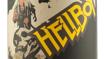 Hellboy wine label