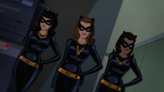 Multiple Catwomen in Batman: Return of the Caped Crusaders
