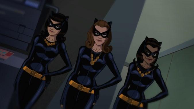 Multiple Catwomen in Batman: Return of the Caped Crusaders