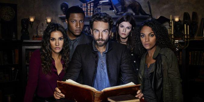 Janina Gavankar, Jerry MacKinnon, Tom Mison, Rachel Melvin, and Lyndie Greenwood in Sleepy Hollow season 4