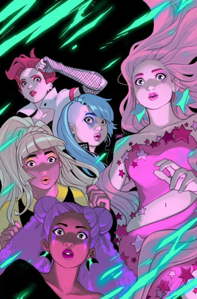 Jem and the Holograms: Infinite #1 cover by Stacey Lee