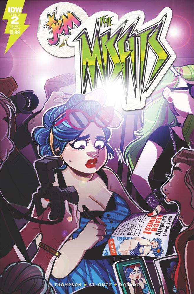 Jem: The Misfits #2 subscription variant cover by Jenn St-Onge