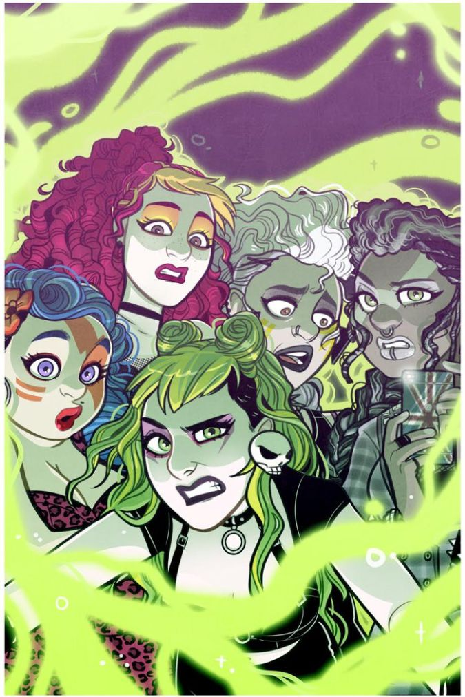 Jem and the Holograms: The Misfits: Infinite #1 cover by Jenn St-Onge