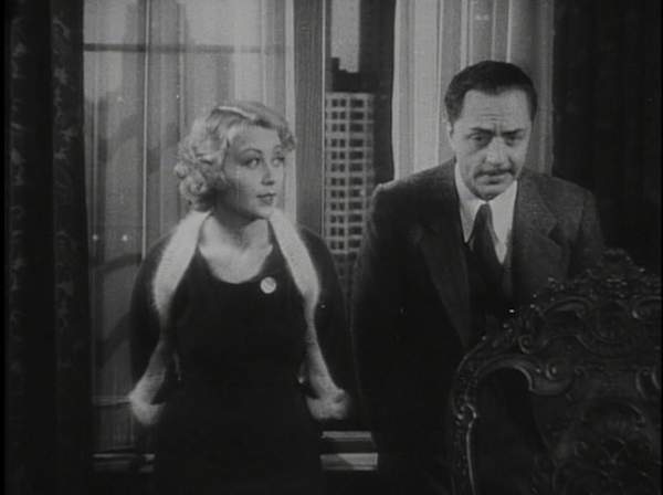 Joan Blondell and William Powell in Lawyer Man