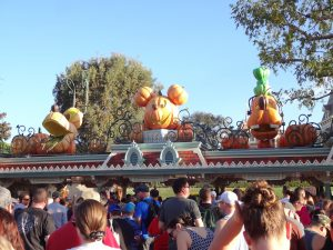 October at Disneyland at park opening