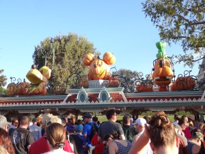 October at Disneyland at park opening