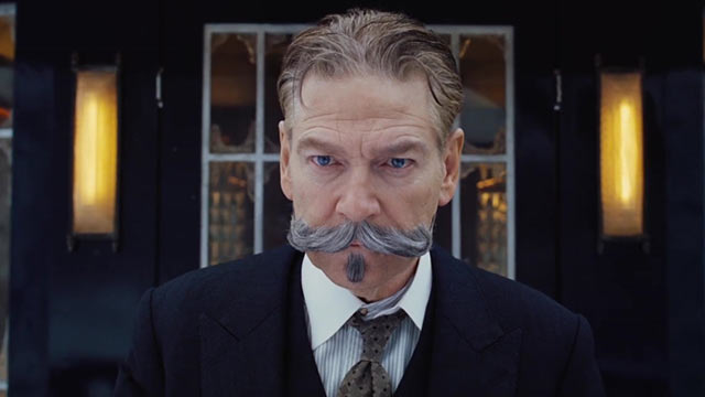 Kenneth Branagh as Hercule Poirot in Murder on the Orient Express