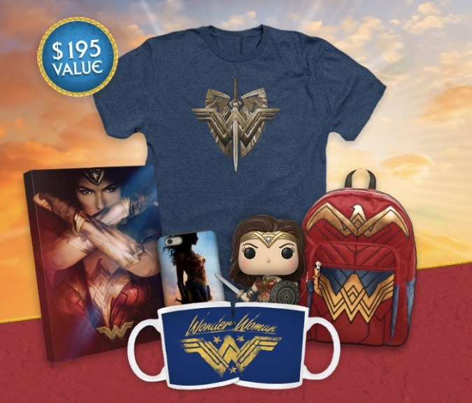 Wonder Woman sweepstakes prize pack