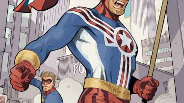 Fighting American #1 cover by Terry and Rachel Dodson