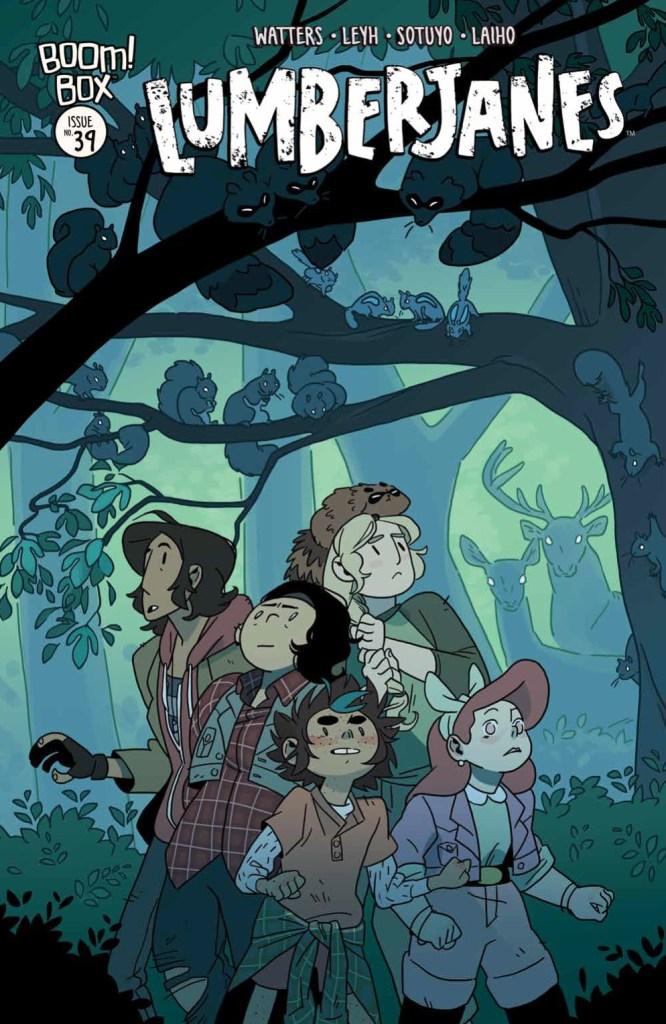 Lumberjanes #39 cover by Kat Leyh