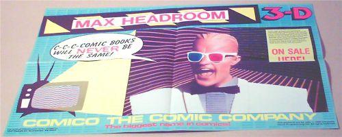 Max Headroom Comico poster
