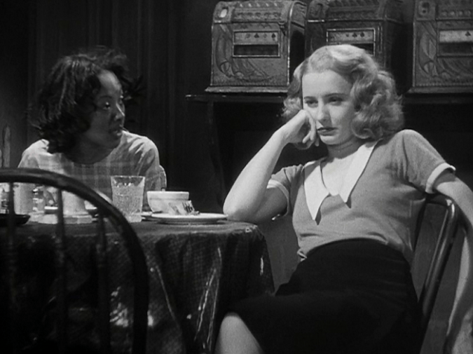Theresa Harris and Barbara Stanwyck in Baby Face