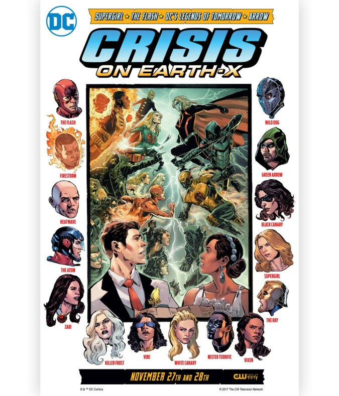 Crisis on Earth-X TV show crossover promotion