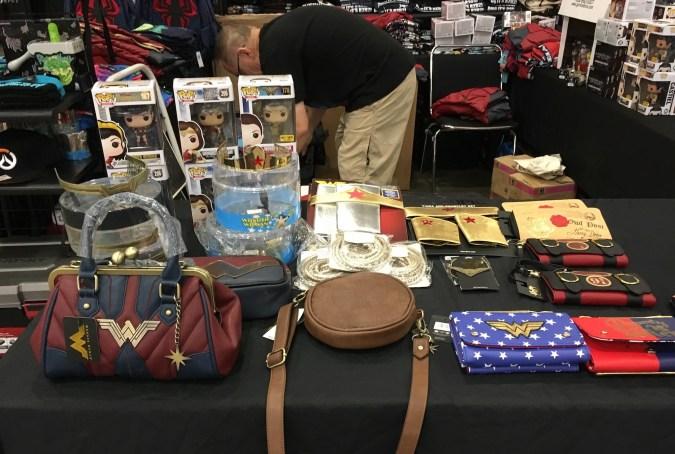 Wonder Woman merchandise at Wizard World Madison 2017
