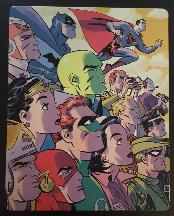 Justice League: The New Frontier Commemorative Edition steelbook back cover