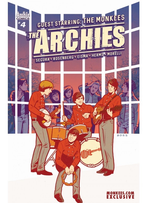 The Archies #4 Monkees.com exclusive variant cover