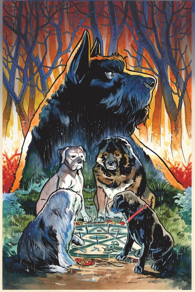 Beasts of Burden: Wise Dogs and Eldritch Men cover by Benjamin Dewey