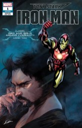 Classic Red and Gold (Nose) Armor Variant Cover - Tony Stark Iron Man #1
