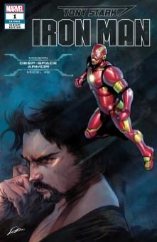 Modern Deep Space Armor Variant Cover - Tony Stark Iron Man #1