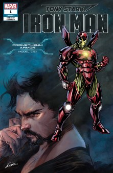 Prometheum Armor Variant Cover - Tony Stark Iron Man #1
