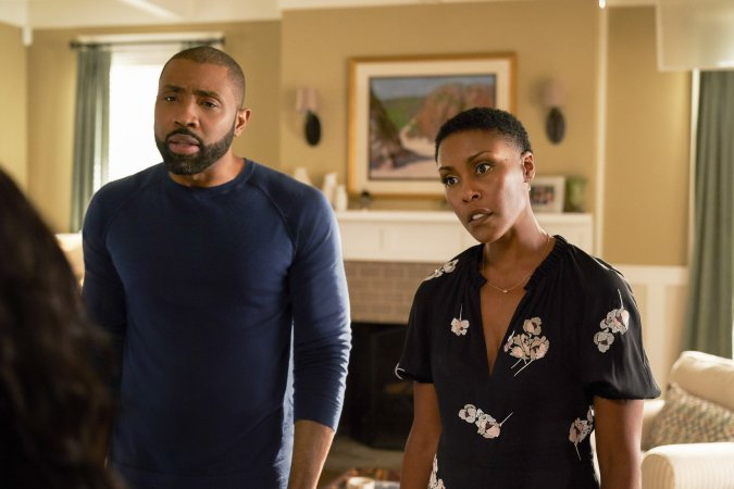 Jeff (Cress Williams) and Lynn (Christine Adams) on Black Lightning