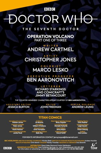 Doctor Who: The Seventh Doctor #1 credits page