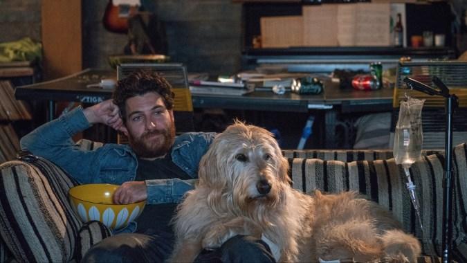 "Dog Days - Adam Pally stars as ""Dax"" with Charlie the dog"