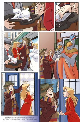 Doctor Who: The Thirteenth Doctor #0 – The Many Lives of Doctor Who Preview Page 2 – The Fourth Doctor by Arianna Florean & Adele Matera