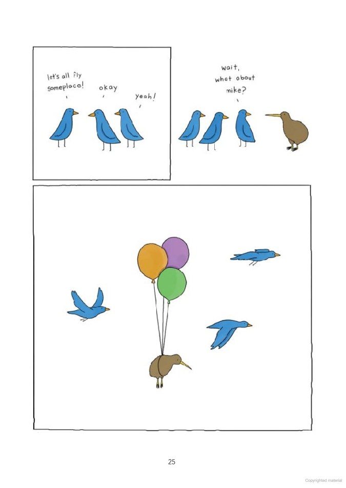 Birds and balloons cartoon by Liz Climo