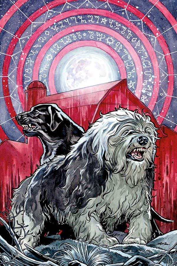 Beasts of Burden: Wise Dogs and Eldritch Men #2 cover by Benjamin Dewey
