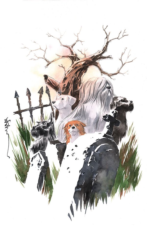 Beasts of Burden: Wise Dogs and Eldritch Men #2 variant cover by Dustin Nguyen