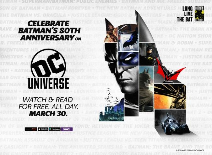 Batman 80th on DC Universe