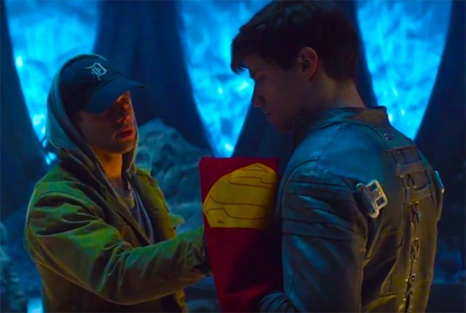 Adam Strange (Shaun Sipos) and Seg-El (Cameron Cuffe) in Krypton