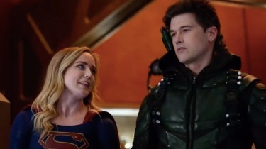 Caity Lotz and Nick Zano in Legends of Tomorrow