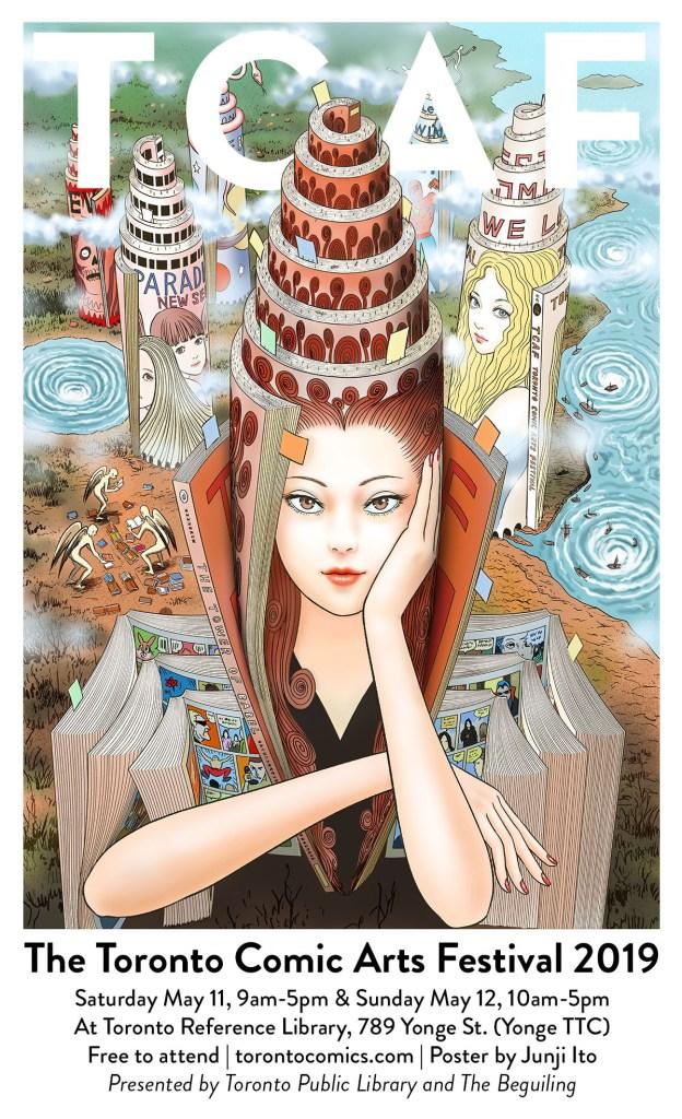 TCAF 2019 poster by Junji Ito