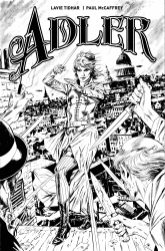 Adler #1 B&W variant cover by Butch Guice