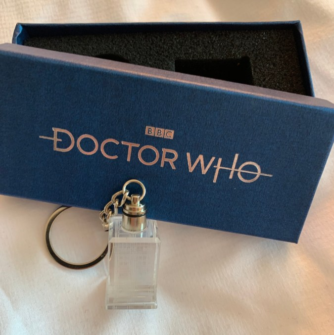 Doctor Who crystal keychain