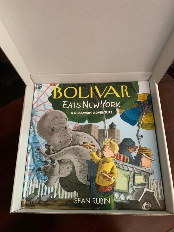 Boliver Eats New York pizza box inside