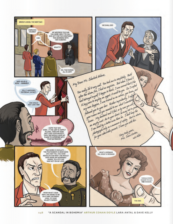 Page from A Scandal in Bohemia from The Graphic Canon of Crime and Mystery Volume 2