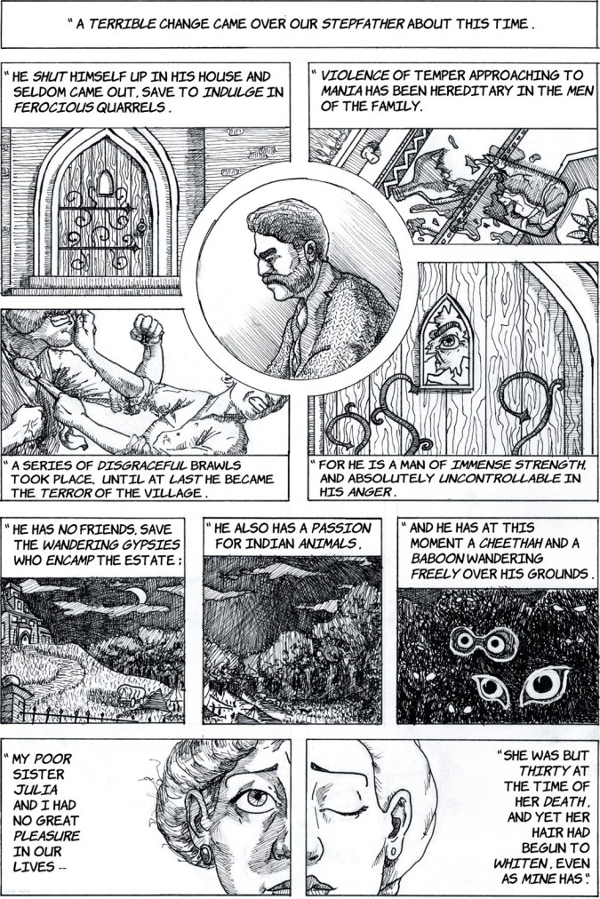 Page from The Speckled Band from The Graphic Canon of Crime and Mystery Volume 1