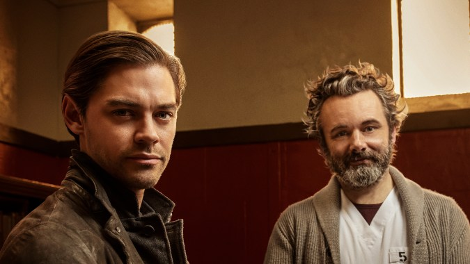 Tom Payne and Michael Sheen in Prodigal Son
