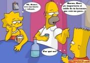 Los Simpsons familia borracha Español